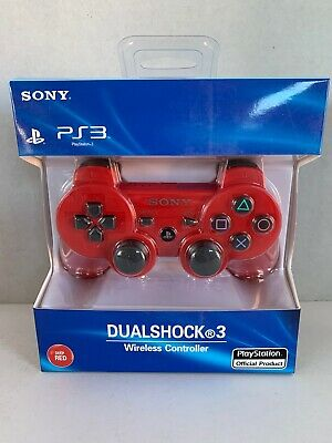 Genuine Official Sony Playstation DualShock 3 Deep Red PS3 Controller NIB 99009