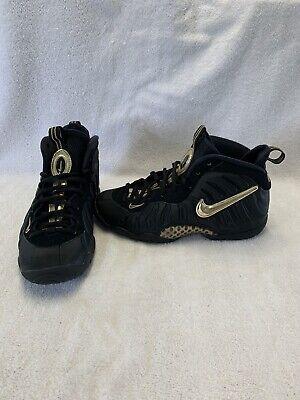 Nike Lil' Posite Pro Boys Black/metallic Gold Shoes~size 5 Y