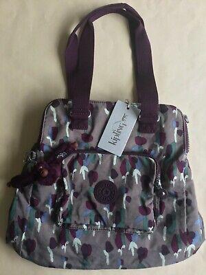 BNWT Kipling Cravala BSC Tote Bag Tulip Purple