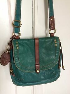 Pre owned all leather  Fossil crossbody bags purses
