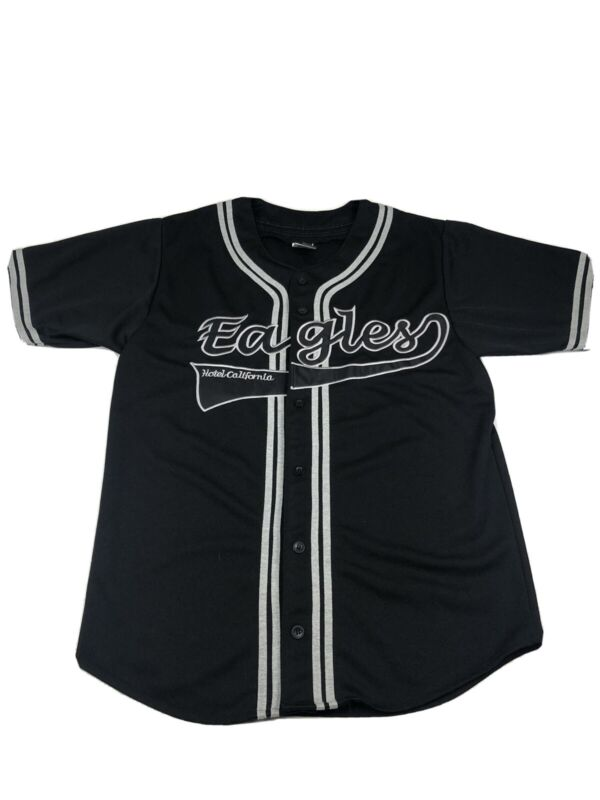 Rare Vintage Eagles Hotel California 2003 Baseball Jersey Size S Mens