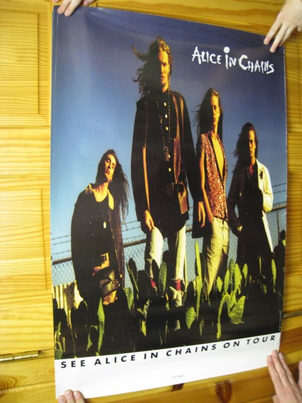 Alice In Chains Poster On Tour Band Shot