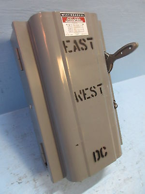 Westinghouse Xu-222 Double Throw Safety Switch 60 Amp 250v-dc 1605717 Transfer