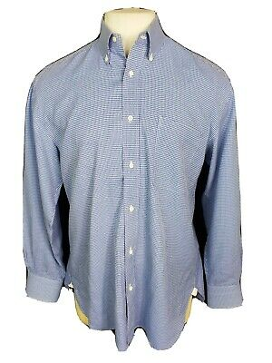 LUIGI BORRELLI Napoli Mens Button Down Shirt 100% COTTON Size 16/41