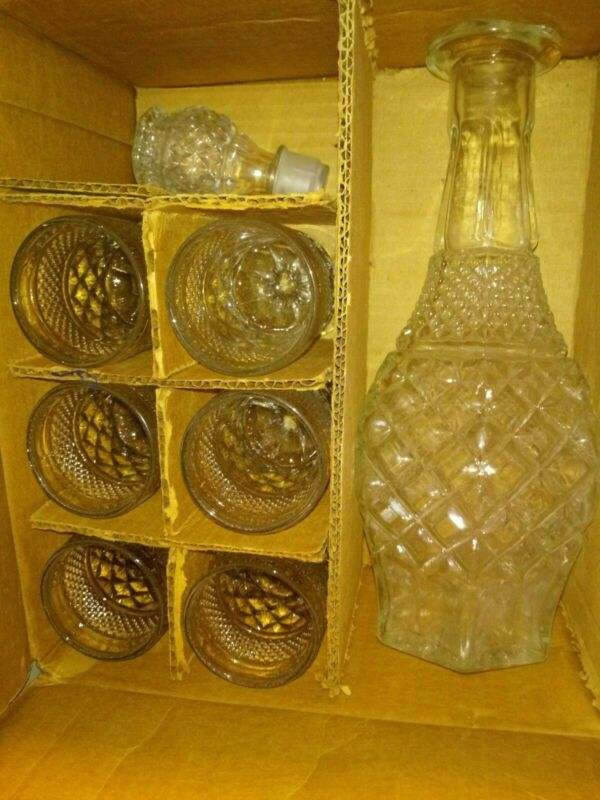 Vintage Mid Century Wexford 8 Pc WINE SET