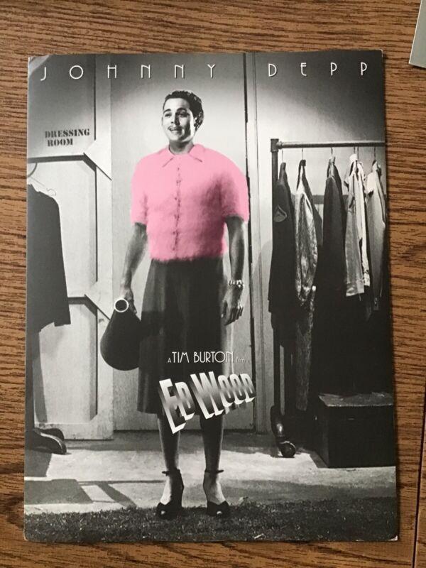 Rare Tim Burton Ed Wood Johnny Depp Press Folder