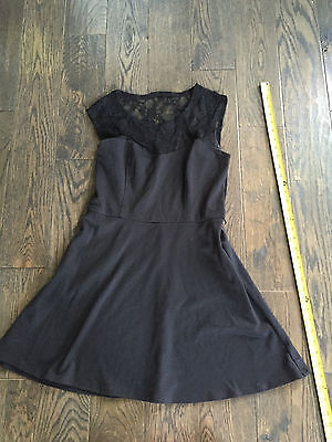 Macys Lots of Love by Speechless Little Black Lace Dress size L (Macys Little Black Dress)
