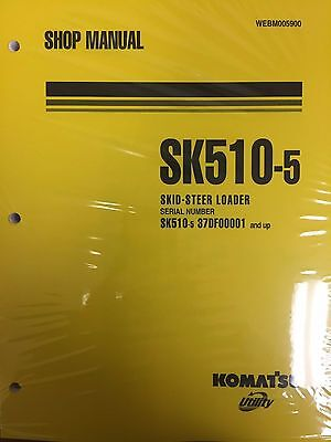 Komatsu Sk510 5 Crawler Skid Steer Track Loader Shop Repair Service Manual