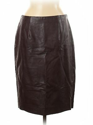 Ann Taylor Women Brown Faux Leather Skirt 8