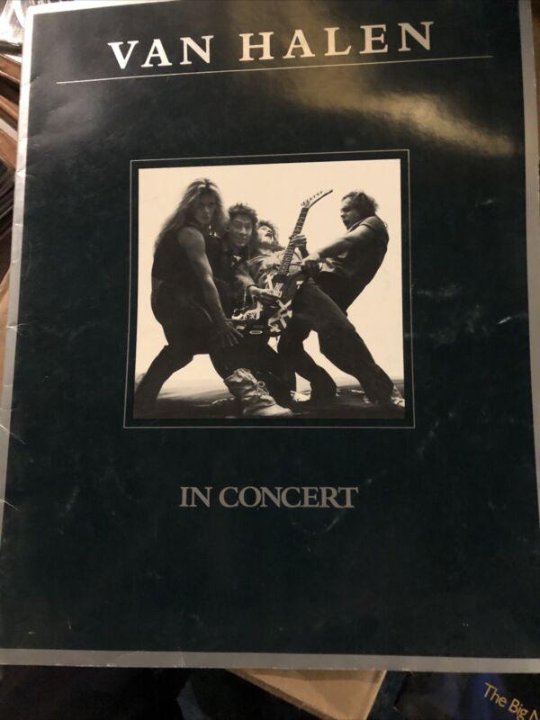 1980 Van Halen Concert Program