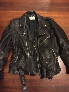 Leather motorcycle jacket size M/L North Perth Vincent Area Preview