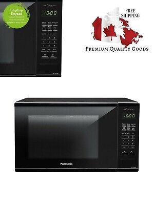 Panasonic NNSG676B Mid-size 1.3 cft. 1100W Genius Microwave Oven, Black, Black