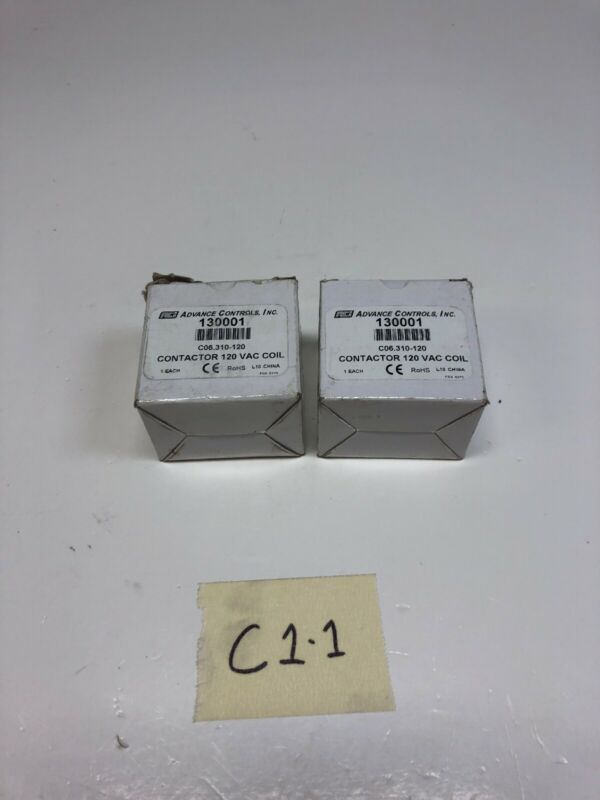 * Lot Of 2 *New Advance Controls Contactor 130001 C06.310-120 120VAC New In Box