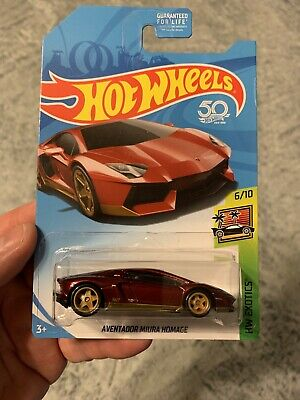 2018 HOT WHEELS LAMBORGHINI AVENTADOR MIURA HOMAGE SUPER TREASURE HUNT