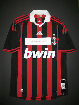 New Adidas 2009-2010 AC Milan Jersey Shirt Kit Home Authentic Climacool