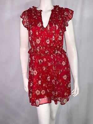 Zara Basic Womens Floral Dress Sleeveless Size XS