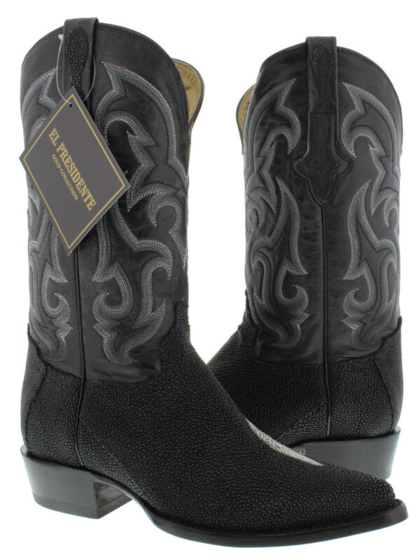 mens, genuine, stingray, skin, exotic, leather, western, cowboy, boots, crocodile, rodeo