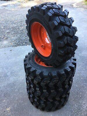 4 Camso Sks753 10-16.5 Skid Steer Tireswheelsrims For Bobcat More- 10x16.5