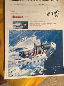 10 foot inflatable boat and motor $1,500.00