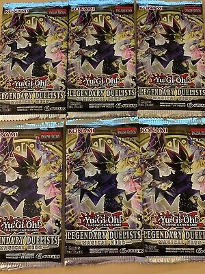 Yugioh Legendary Duelists Magical Hero Booster Pack x6 Rare! Sealed!