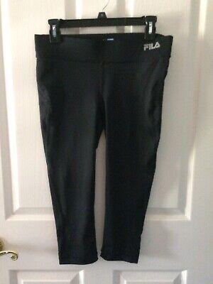 Fila Sport Women Small Running Tights Pants Capri Black NWOT active wear