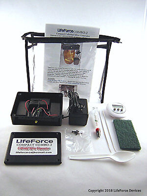 Compact COMBO-2 Colloidal Silver Generator Package by LifeForce Devices for sale  Shipping to India