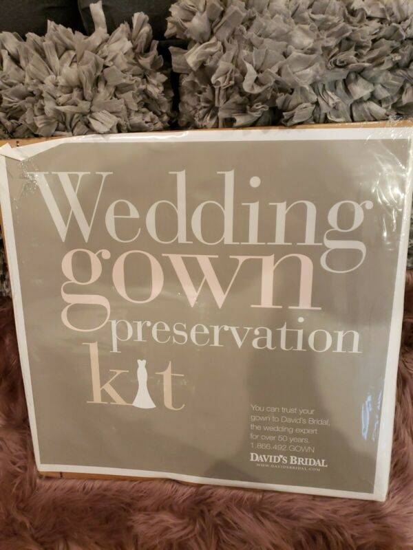 Wedding Gown Preservation Kit New David's Bridal Dress Storage Retail $189 NEW