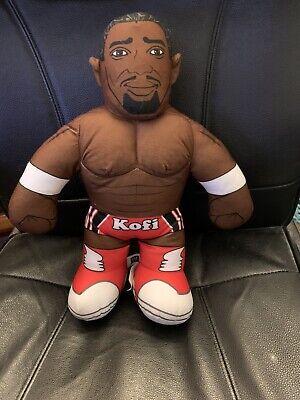 WWE WWF Brawlin' Buddies Talking Plush Kofi Kingston Action Figure Mattel
