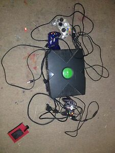 Xbox original system with 3 controllers for $55