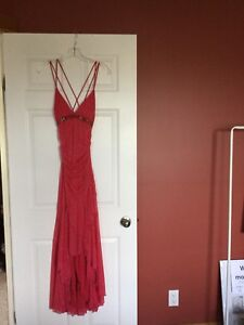 Jessica / Red long dress sparkles graduation 8 party Never worn