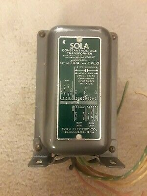 Vintage Sola Constant Voltage Transformer Cat No. 7104