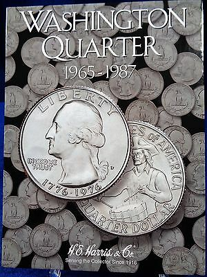 H.E. Harris Washington Quarter 1965-1987 Coin Folder #3, Album Book #2690