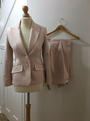 Ladies NEXT Light Pink Jacket & Trouser Suit, Jacket Petite UK 6/trousers 8R New