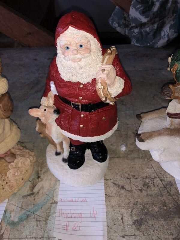 Untied Design Santa USA Hitching Up Deer COA box