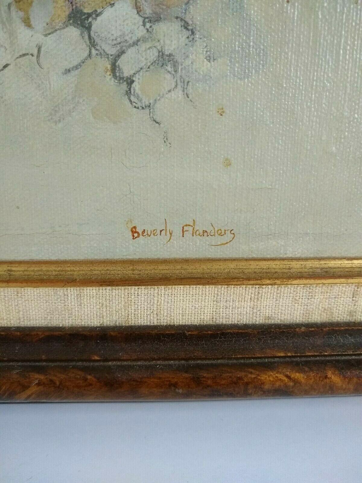 Beverly Flanders Original Oil Painting Canvas Corn Maize Harvest Fall 1969 Husk - $80.00