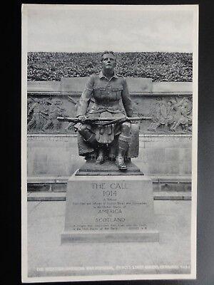 Military: Scottish - American War Memorial THE CALL 1914, Edinburgh Old Postcard