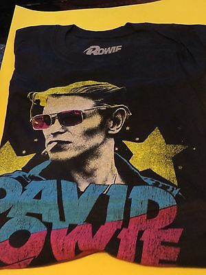 DAVID BOWIE 100% COTTON T-SHIRT SIZE MEDIUM THE COOL DUKE !