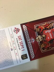 Toronto fc tickets from sept 1 to October 28 for $105 each