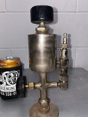 Nickel Plated Oiler Hit Miss Gas Engine Antique Steam Oilfield