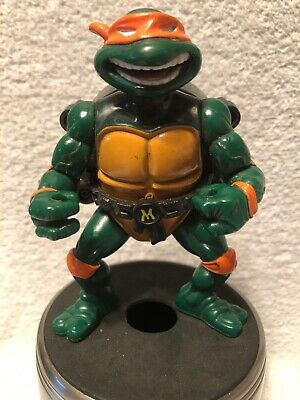 Vintage 1991 Playmates TMNT Mikey Mike Action Figure City Sewer Michaelangelo