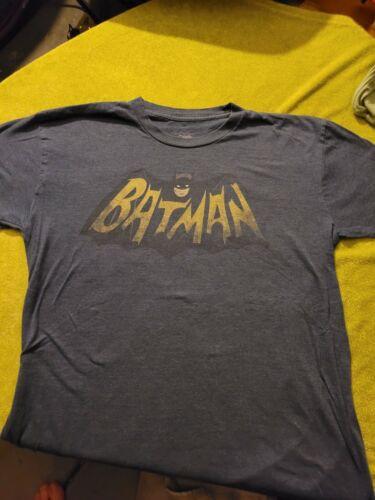BATMAN VINTAGE STYLE LOGO TEE SHIRT XL SOFT THIN KILLER SHIRT POW...