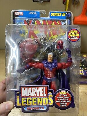 "Marvel Legends Toy biz series 3 Magneto 6"" action figure 2002. Unopened"