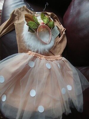 Pottery Barn Kids WOODLAND DEER TUTU HALLOWEEN COSTUME 4-6Y child NEW