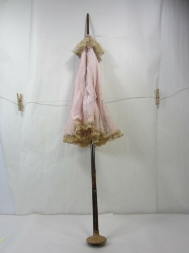Antique Ladies Parasol w/Owl Head Handle