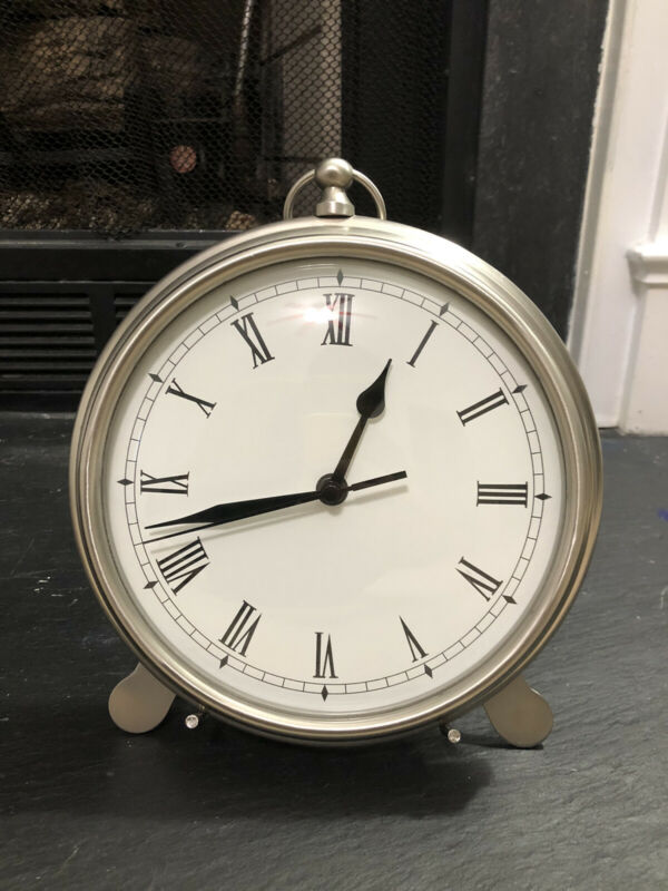 Heavy Pottery Barn Pocket Watch Desk Clock