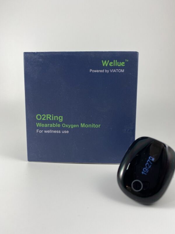 Bluetooth Health O2 Ring Tracker Oxygen Levels Heart Rate Monitor w Vibration F1