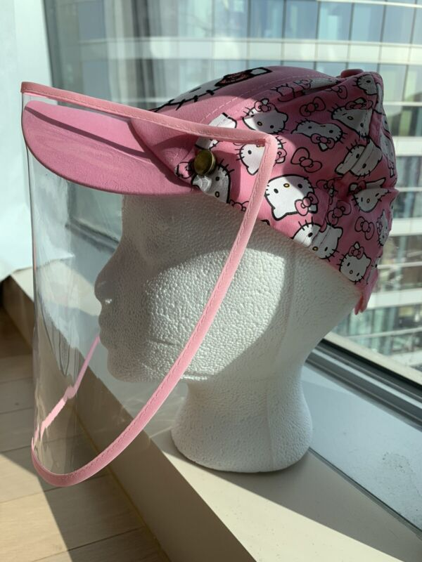 NEW HELLO KITTY BASEBALL CAP WITH FACE SHIELD MASK