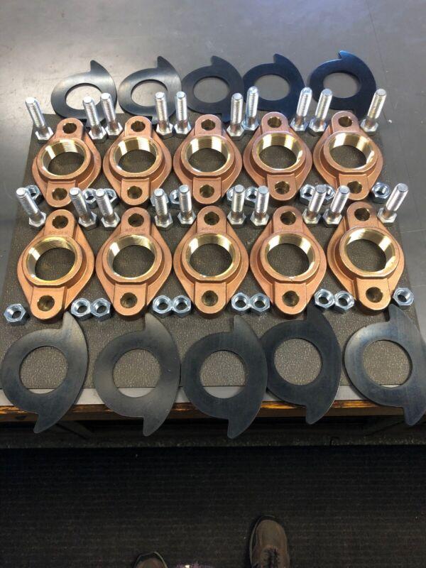 """(5 Sets 10 Total) 2"""" Lead-free Brass Meter Flange Kit"""