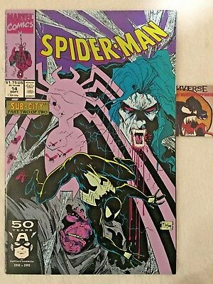Spider-Man #14 1991 Black Costume Sub-City Part 2 VF/NM Todd McFarlane