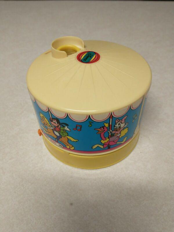 Vintage Working 1988 Disney Dreamtime Carousel 1 disc W/ lightbulb